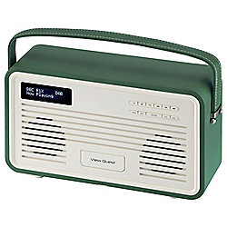 View Quest Retro ColourGen DAB+/FM Radio with iPod Dock (Emerald Green, 8 Pin)
