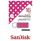 SanDisk Cruzer U USB Flash Drive 16GB Polka Dots