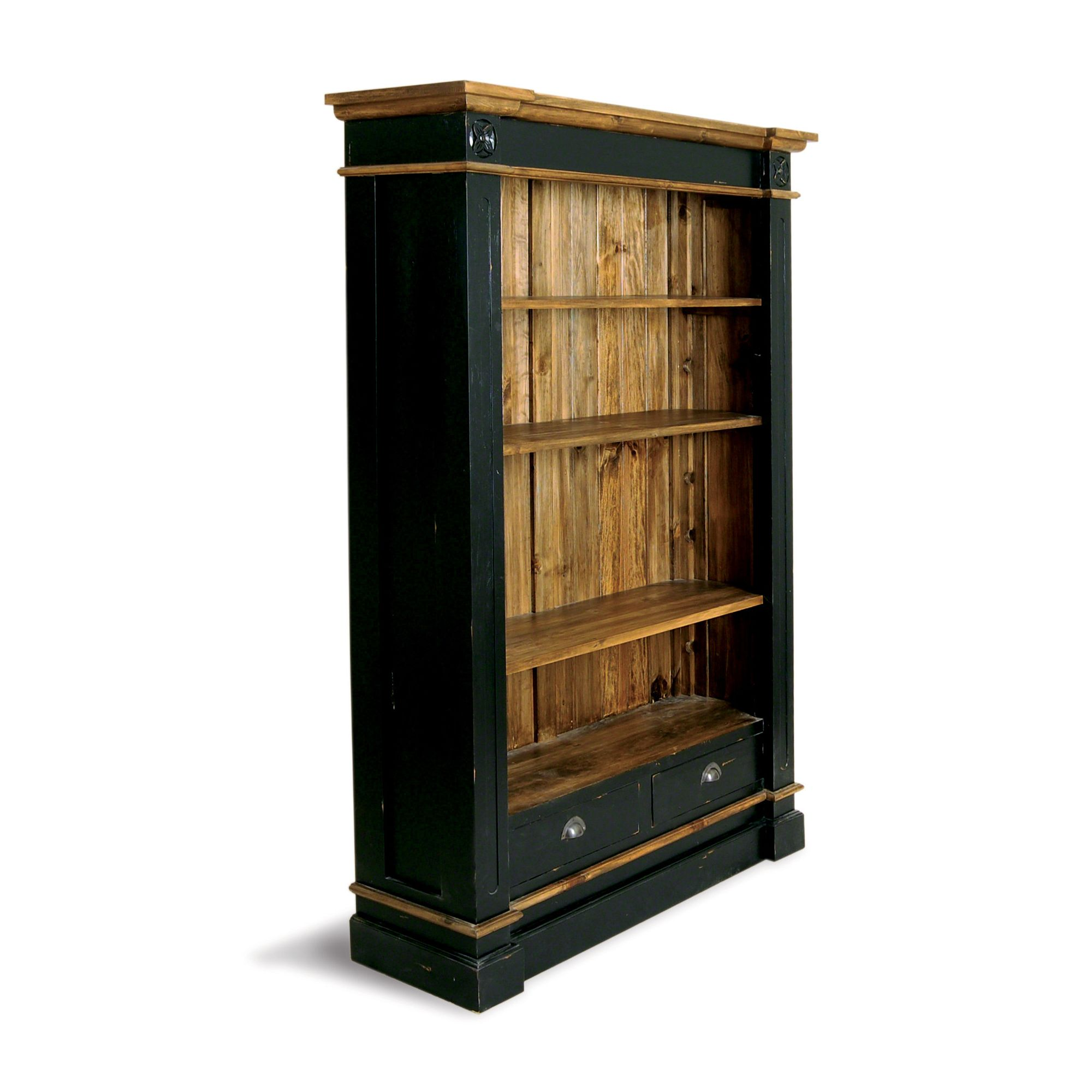 Oceans Apart Painted Provence President Large Bookcase in Antique Black at Tesco Direct