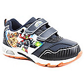 Skylander Giants Boys Lights Black Leisure Trainers