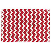 Chevron Rug Red 60x90cm