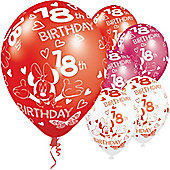 11' Disney Minnie Mouse 18th Birthday (5pk)