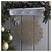 Weiste Gold Glitter Snowflake Christmas Hanging Decoration