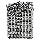 Tesco Basic Ogee Geo Print Duvet Cover And Pillowcase Set, King Size