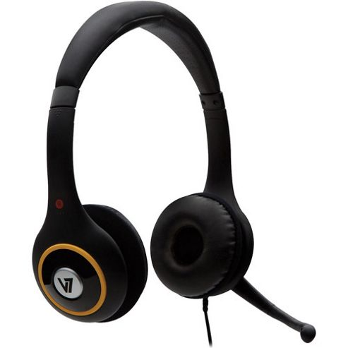 V7 DELUXE GAMING USB HEADSET, STEREO PHONES MIC VOLCONTR IN