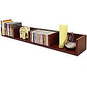 Virgil - Cd / Dvd / Blu-ray / Media Wall Storage Shelf - Mahogany