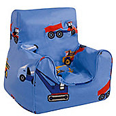 Children's Bean Bag Chair - Toy Trucks