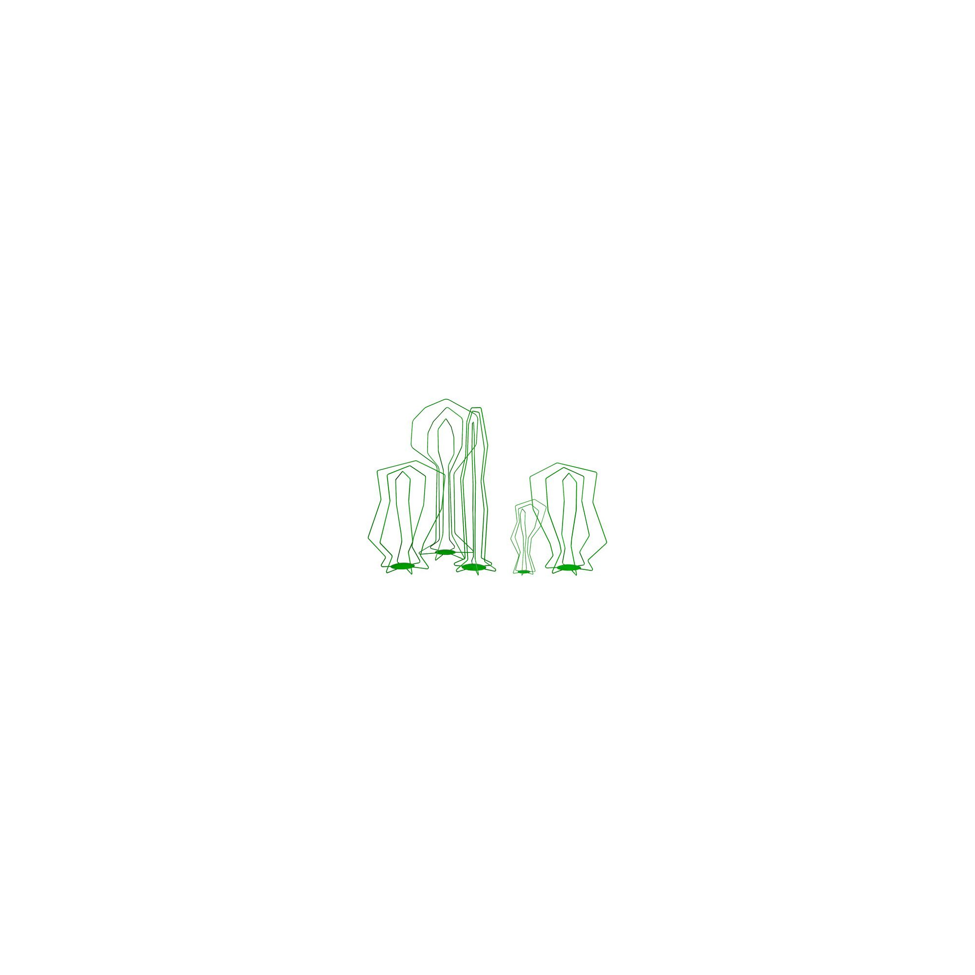 FLORA Picto Wire Sculpture Element - 87 cm - Light Green at Tesco Direct