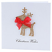 Tesco Finest Charity Reindeer Vintage Christmas Cards , 5pack