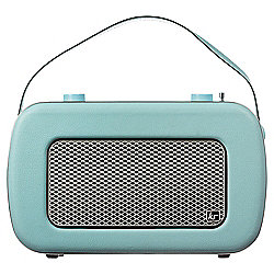 Kitsound Jive Retro DAB Radio Duck Egg Blue