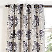 Julian Charles Clara Heather Eyelet Jacquard Curtain -168x183cm