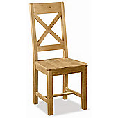Alterton Furniture Pemberley Cross Back Dining Chair with Wooden Seat (Set of 2)