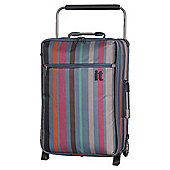 IT Luggage World's Lightest 2-Wheel Small Teal Stripe Suitcase
