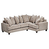 Kensington Fabric Scatter Backright Hand Facing Corner Sofa Taupe
