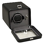 Wolf Designs Windsor Module 2 5 Single Watch Winder with Cover - Black