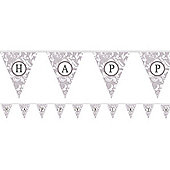 Banners Personalise It Paper Pennant Banner - Silver (each)