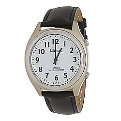 RNIB Large Radio Controlled Talking Watch - Leather Strap