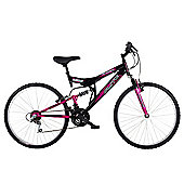 Flite Taser 18-Speed Dual Suspension Bicycle Black/Pink