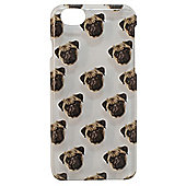 Tortoise Hard Protective Case,iPhone 6, Clear with Dog Print.