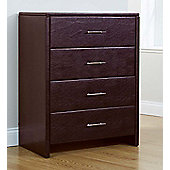 Palma Faux Leather 4 Drawer Chest - Brown