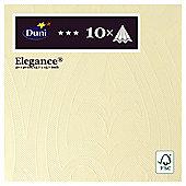 Duni Elegance Cream 40Cm 10 Pk Napkins