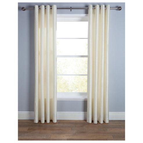 Tesco Faux Silk Lined Eyelet Curtains W112xL183cm (44x72