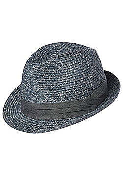 F&F Chambray Band Flecked Trilby - Blue