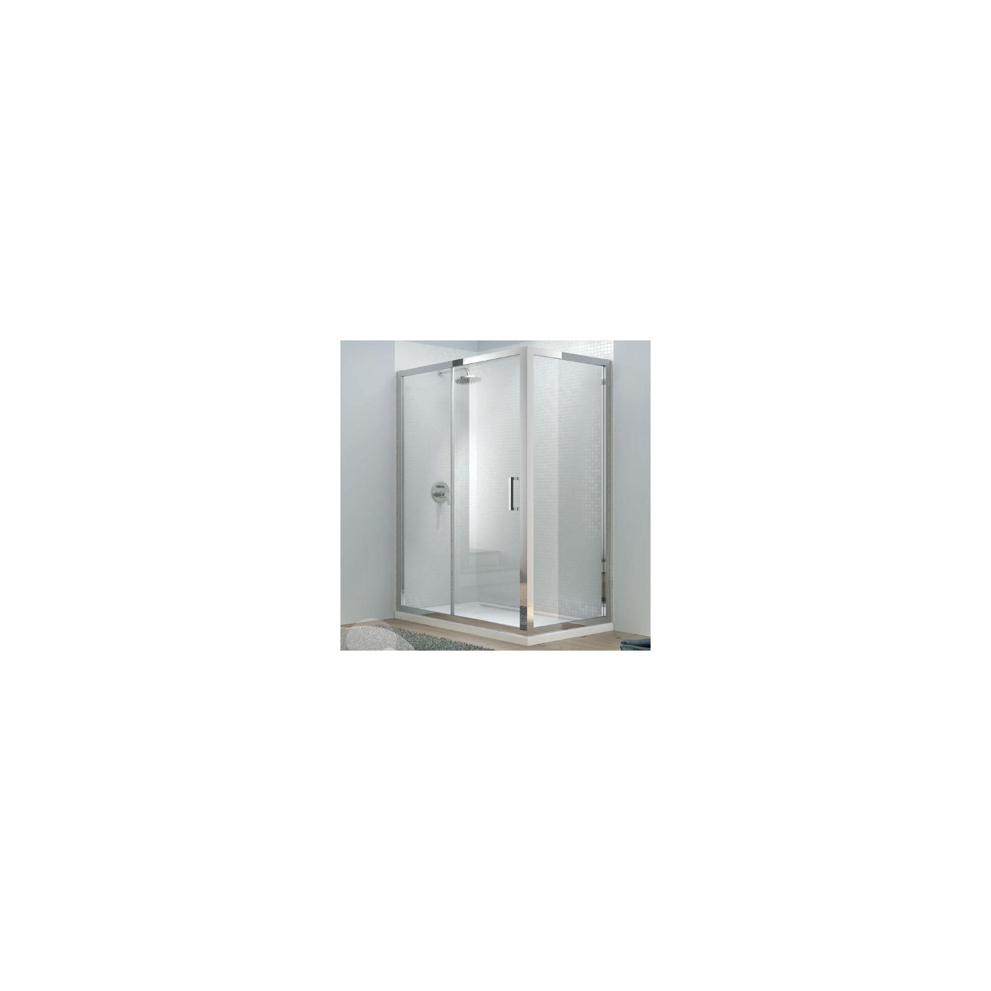 Merlyn Vivid Eight Sliding Door Shower Enclosure, 1500mm x 800mm, Low Profile Tray, 8mm Glass at Tesco Direct