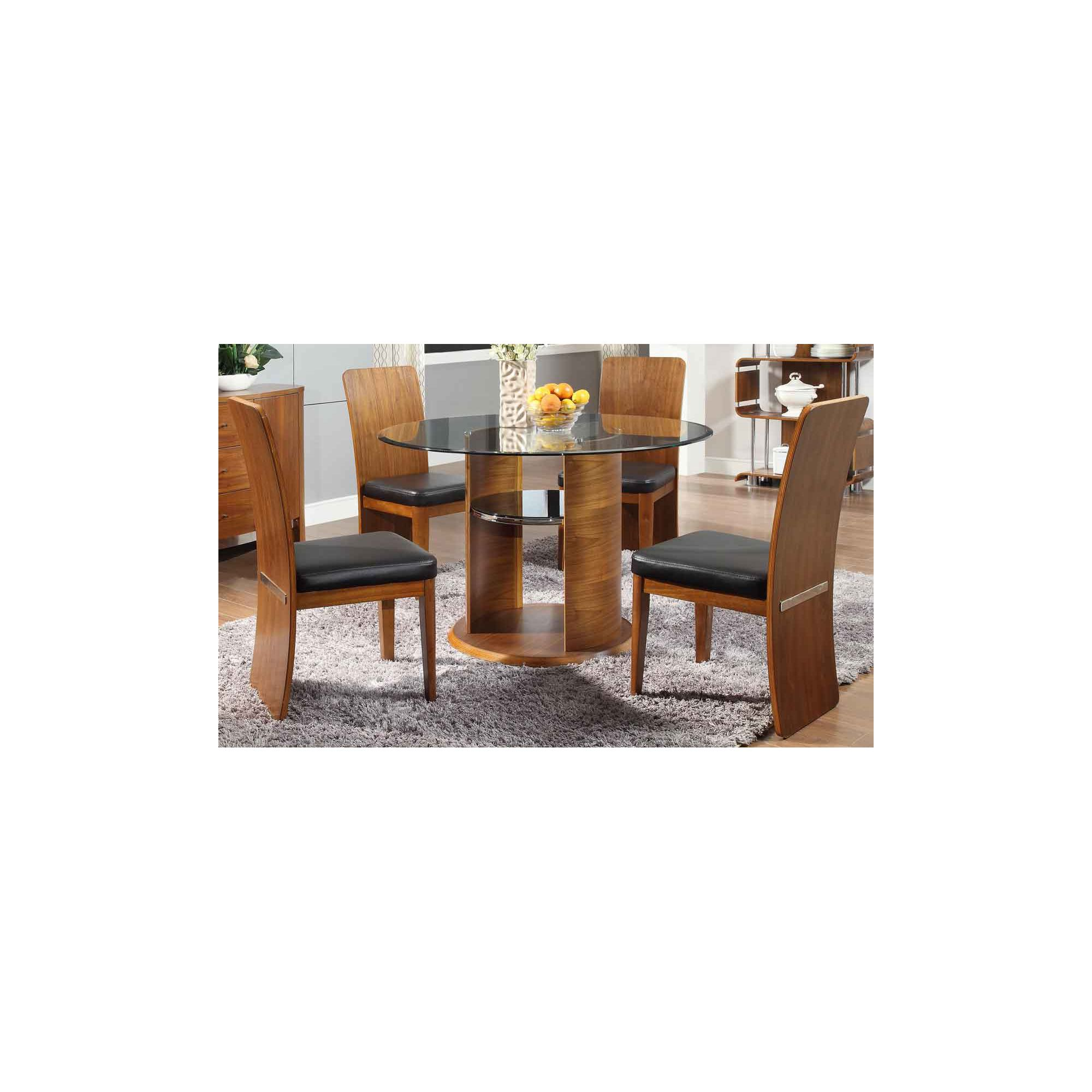 Other Jual JF603 Walnut Dining Table and 4 Chairs