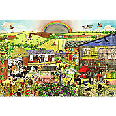 Bigjigs Toys BJ013d Farm Floor Puzzle (192 Piece)