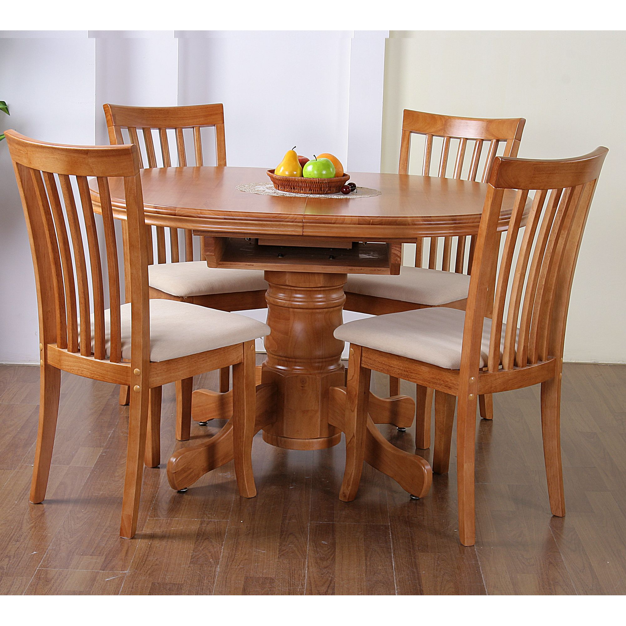 G&P Furniture Windsor House 5-Piece Stratford Oval Flip Top Extending Dining Set - Maple at Tesco Direct