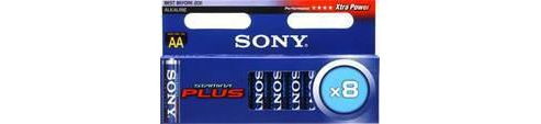 Sony AM3M8A Stamina Plus AA Alkaline Batteries Pack of 8