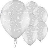 Diamond Clear Latex Balloons (25pk)