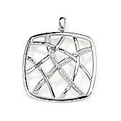 Jewelco London 9ct White Gold - Diamond - Fancy Charm Pendant -