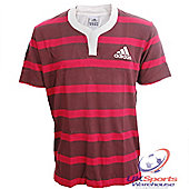Adidas Rugby Culture '16th Man' Mens Short Sleeved Rugby Jersey - Red