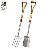 National Trust Border Spade & Fork Gardening Tool Set