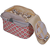 Epicurean 4 Person Picnic Hamper in Sorrento Red