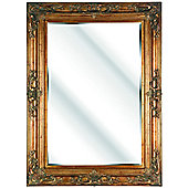 D & J Simons Cambridge Mirror - Gold - 117cm H x 86cm W