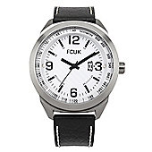 French Connection Mens Leather Watch - FC1113BW