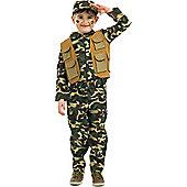 Army Boy - Child Costume 5-6 years