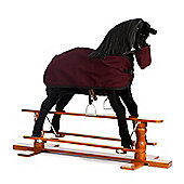 Rocking Horse Beauty with Burgundy Rug and Nose Bag