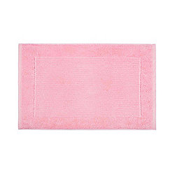 Homescapes Imperial Plain Bath Mat Pink
