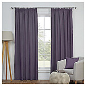 Blackout Pencil Pleat Curtains - Heather - 66 X 90