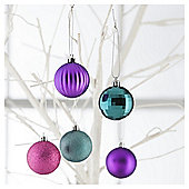 Tesco Baubles Brights, 20 Pack