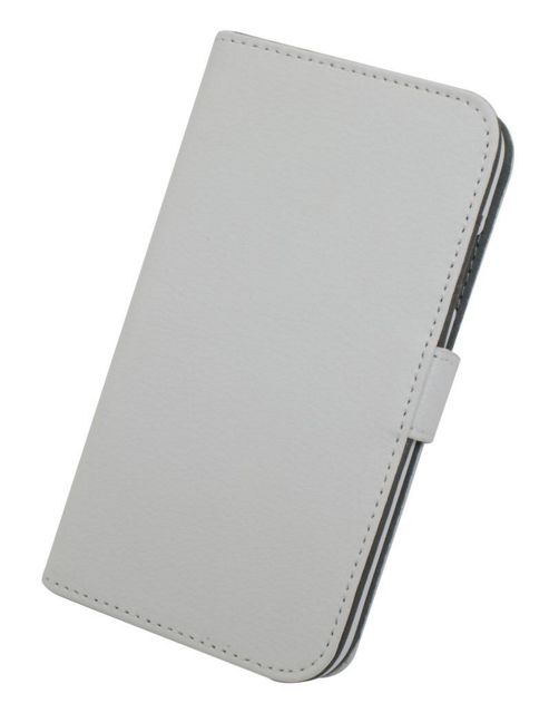 Tortoise™ Genuine Leather Folio Case Samsung Galaxy S4 White.