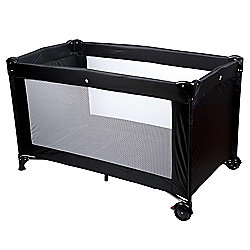 Safetots Sleep and Go Travel Cot Black