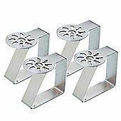 Kitchen Craft Sunshine Stainless Steel Table Cloth Clips, Set of 4