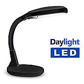Minisun 8W Daylight LED Flexi Neck Table Lamp in Black