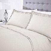 Casa Couture Greenwich Pale Grey Pillowcase Pair