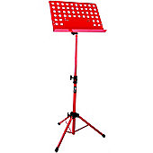 Tiger Orchestral Sheet Music Stand - Red